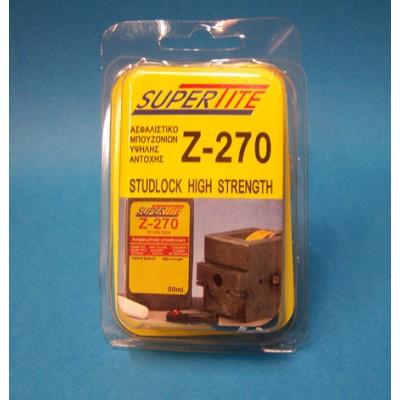 SUPERTITE Z-270 Ασφαλιστικό Μπουλονιών Υψηλού Βαθμού 10 ml